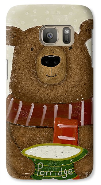 Galaxy Case featuring the painting Breakfast For Bears by Bri B