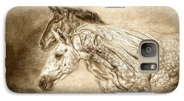 Galaxy Case featuring the photograph Breaking Free Sepia by Eleanor Abramson