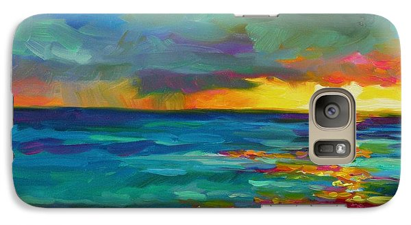 Galaxy Case featuring the painting Breaking Light by Chris Brandley