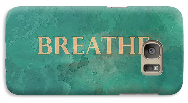 Galaxy Case featuring the digital art Breathe by Ann Powell