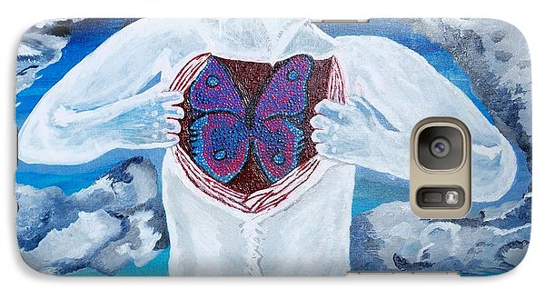Galaxy Case featuring the painting Breathe Deep by Lisa Brandel