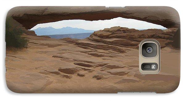 Galaxy Case featuring the digital art Breezy Bridge by Gary Baird