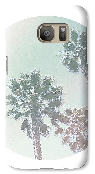 Breezy Palm Trees- Art By Linda Woods Galaxy S7 Case by Linda Woods