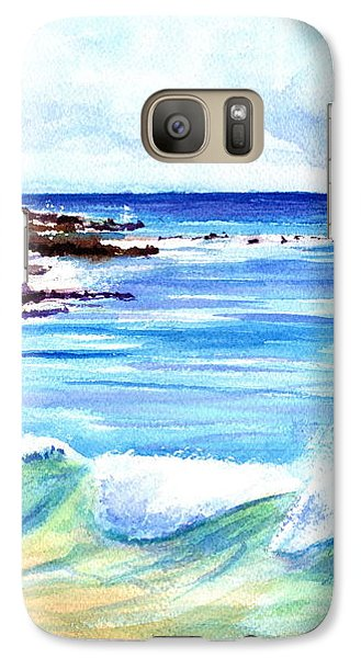 Galaxy Case featuring the painting Brennecke's Beach by Marionette Taboniar