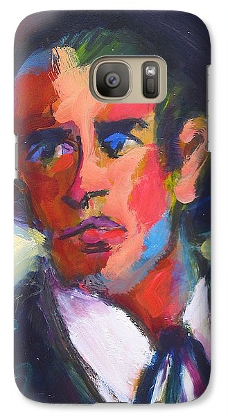 Galaxy Case featuring the painting Bret Maverick by Les Leffingwell