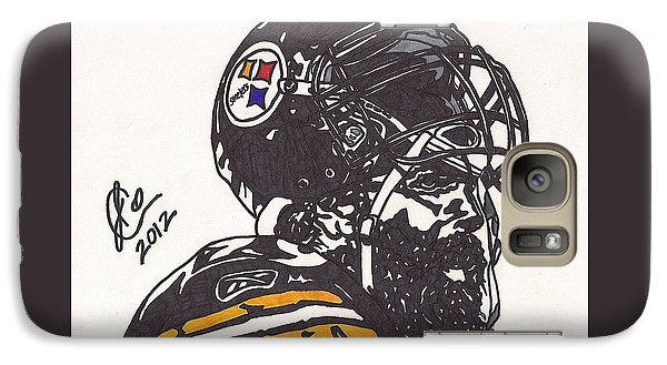 Galaxy Case featuring the drawing Brett Keisel by Jeremiah Colley