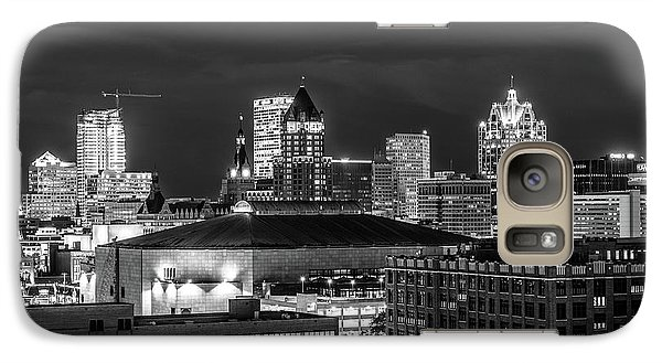 Galaxy Case featuring the photograph Brew City At Night by Randy Scherkenbach
