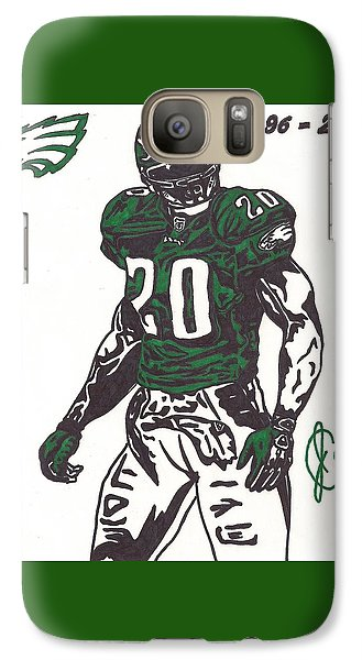 Galaxy Case featuring the drawing Brian Dawkins 3 by Jeremiah Colley