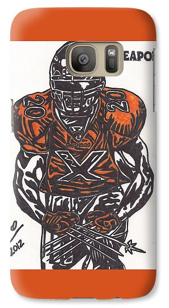 Galaxy Case featuring the drawing Brian Dawkins by Jeremiah Colley