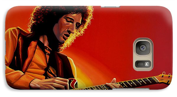 Brian May Of Queen Painting Galaxy S7 Case