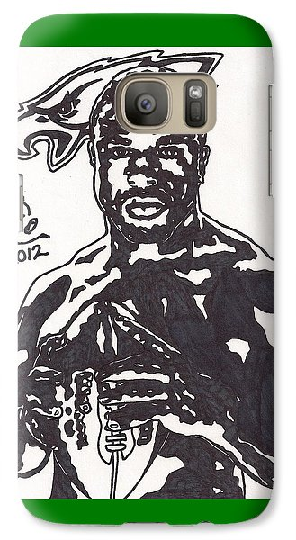 Galaxy Case featuring the drawing Brian Westbrook by Jeremiah Colley