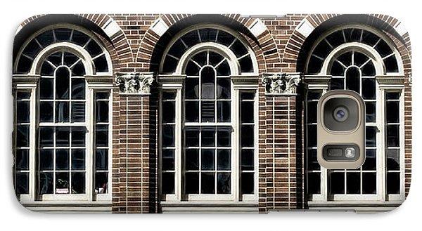 Galaxy Case featuring the photograph Brick Arch Windows by Brad Allen Fine Art