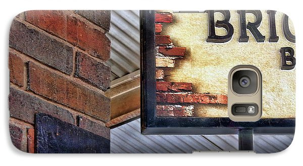 Galaxy Case featuring the photograph Brick Bar by Nikolyn McDonald