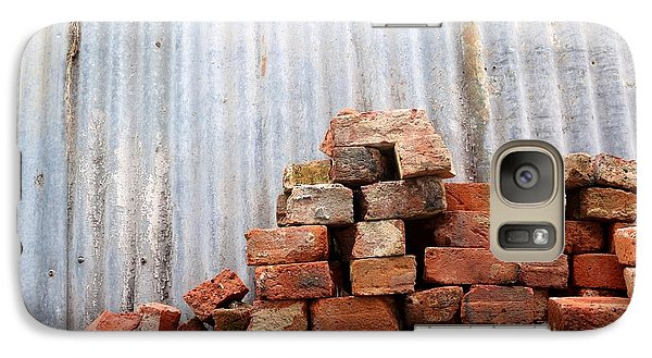 Galaxy Case featuring the photograph Brick Piled by Stephen Mitchell