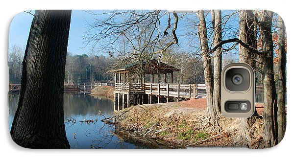 Galaxy Case featuring the photograph Brick Pond Park by Kay Lovingood