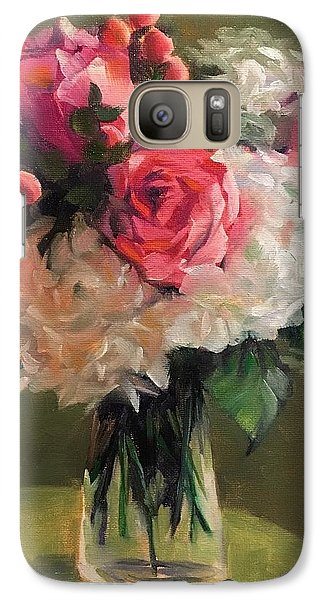 Galaxy Case featuring the painting Bridal Bouquet by Pam Talley