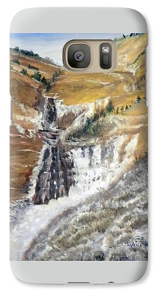 Galaxy Case featuring the painting Bridal Veil Falls In Winter by Sherril Porter