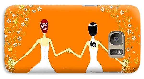 Galaxy Case featuring the digital art Brides by Barbara Moignard
