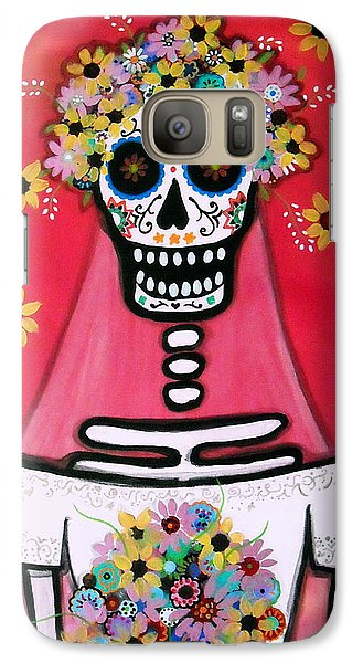 Galaxy Case featuring the painting Bridezilla Dia De Los Muertos by Pristine Cartera Turkus