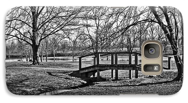 Galaxy Case featuring the photograph Bridge And Branches by Greg Jackson
