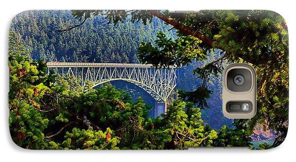 Galaxy Case featuring the photograph Bridge At Deception Pass by Michelle Joseph-Long