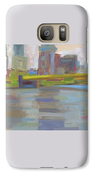 Galaxy Case featuring the painting Bridge by Chris N Rohrbach