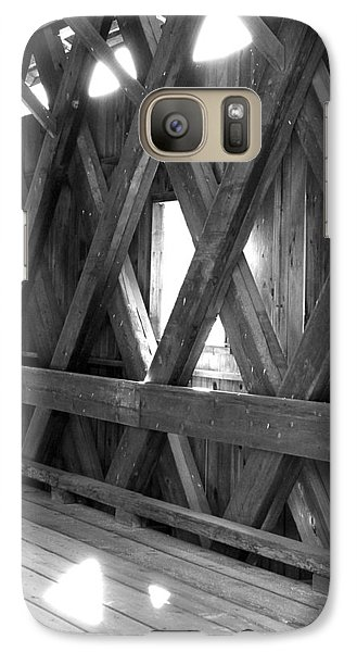 Galaxy Case featuring the photograph Bridge Glow by Greg Fortier