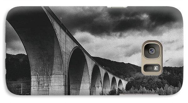 Galaxy Case featuring the photograph Bridge by Hayato Matsumoto