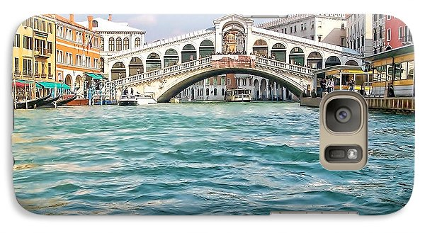 Galaxy Case featuring the photograph Bridge In Venice by Roberta Byram