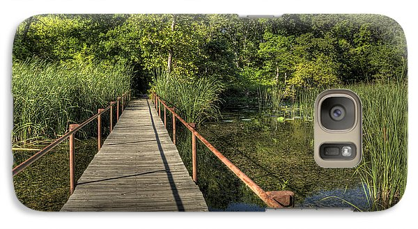 Galaxy Case featuring the photograph Bridge Into The Forest At Lake Murray by Tamyra Ayles