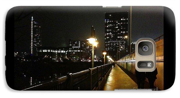 Galaxy Case featuring the photograph Bridge Into The Night by Felipe Adan Lerma