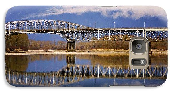 Galaxy Case featuring the photograph Bridge Over Calm Waters by Jordan Blackstone