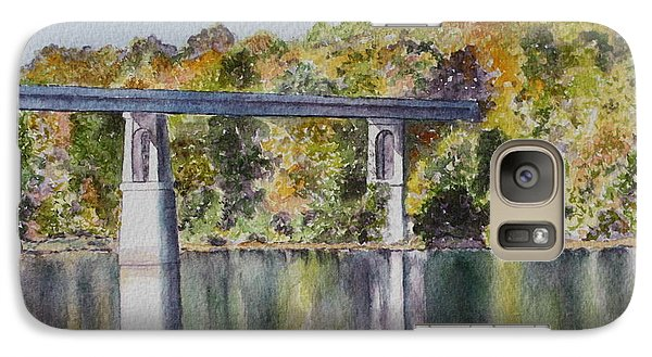 Galaxy Case featuring the painting Bridge Over The Cumberland by Patsy Sharpe