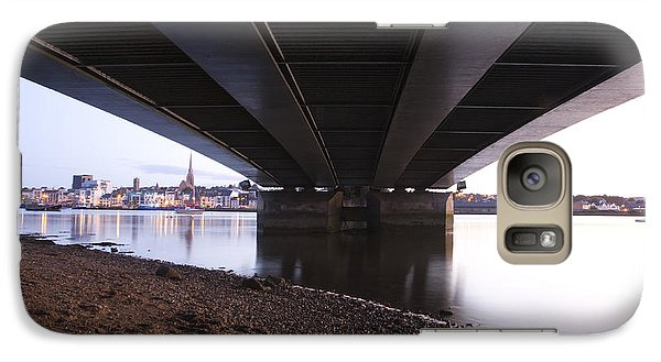 Galaxy Case featuring the photograph Bridge Over Wexford Harbour by Ian Middleton
