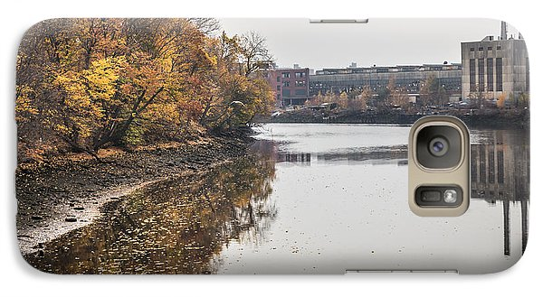 Galaxy Case featuring the photograph Bridgeport Factory by Lora Lee Chapman