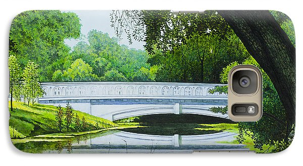 Galaxy Case featuring the painting Bridges Of Forest Park IIi by Michael Frank