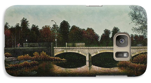 Galaxy Case featuring the painting Bridges Of Forest Park Iv by Michael Frank