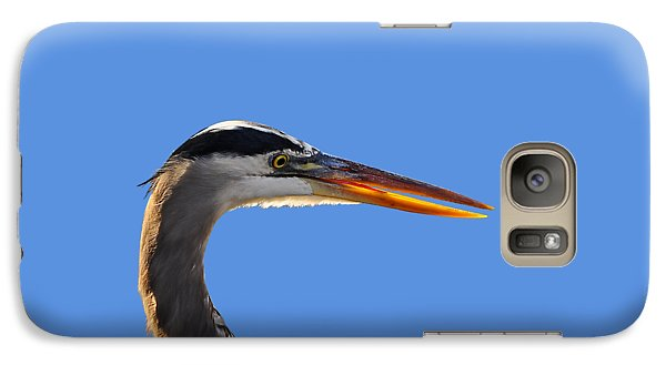 Galaxy Case featuring the photograph Bright Beak Blue .png by Al Powell Photography USA