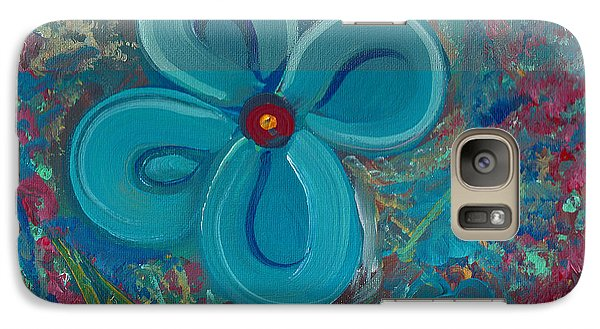 Galaxy Case featuring the painting Bright Blue by John Keaton