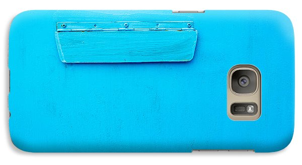 Galaxy Case featuring the photograph Bright Blue Paint On Metal With Postbox by John Williams