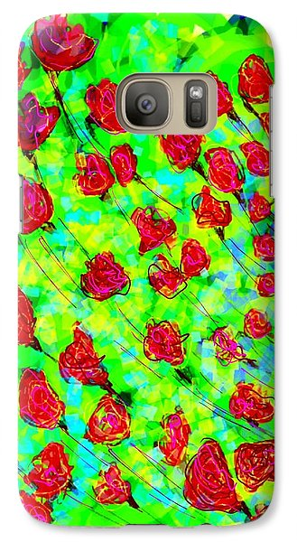 Bright Galaxy S7 Case by Khushboo N