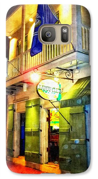 Galaxy Case featuring the photograph Bright Lights In The French Quarter by Glenn McCarthy Art and Photography