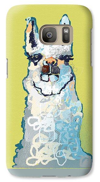 Bright Mustard Llama Galaxy S7 Case