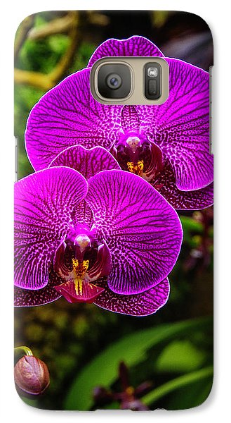 Bright Purple Orchids Galaxy S7 Case by Garry Gay