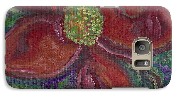 Galaxy Case featuring the painting Bright Red by John Keaton