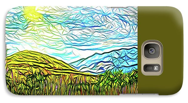 Bright Sky Summer - Field In Boulder County Colorado Galaxy S7 Case by Joel Bruce Wallach