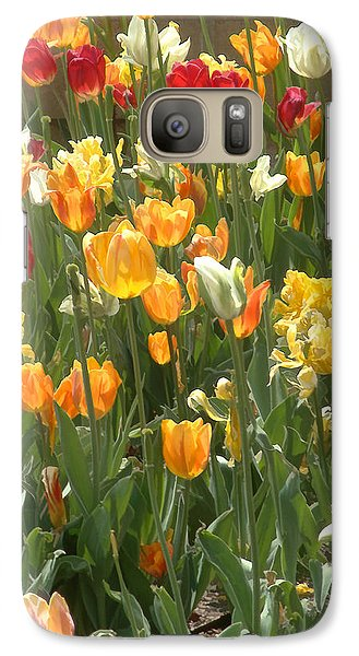 Galaxy Case featuring the photograph Bright Tulips by Michael Flood
