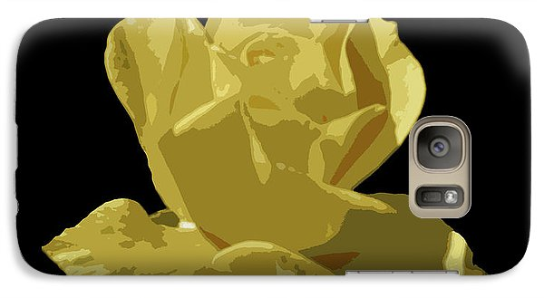 Galaxy Case featuring the photograph Bright Yellow Beauty by Laurel Powell