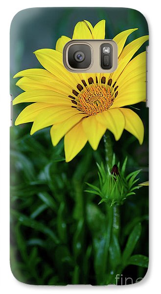 Galaxy Case featuring the photograph Bright Yellow Gazania By Kaye Menner by Kaye Menner