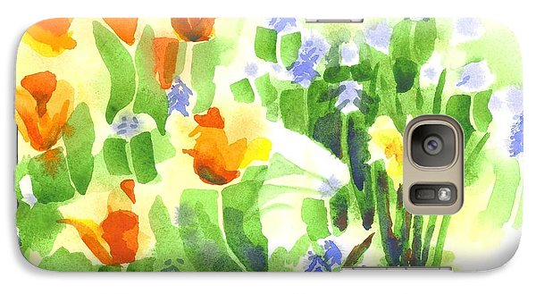 Galaxy Case featuring the painting Brightly April Flowers by Kip DeVore
